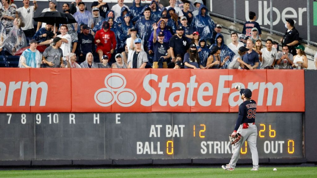 The fan who threw the ball and hit Alex Verdugo at Yankee Stadium is banned for life on MLB fields