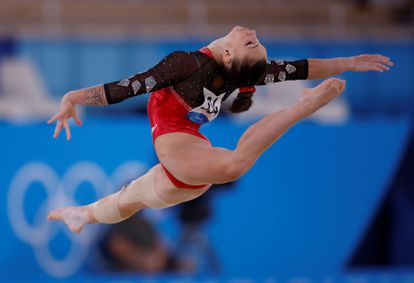 Roxana Bubba, during the floor exercise.