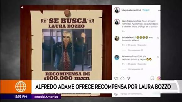 Alfredo Adam offers 100,000 pesos for the whereabouts of Laura Pozzo