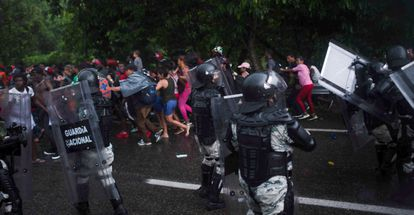 Conflict between elements of the National Guard and immigrant families.