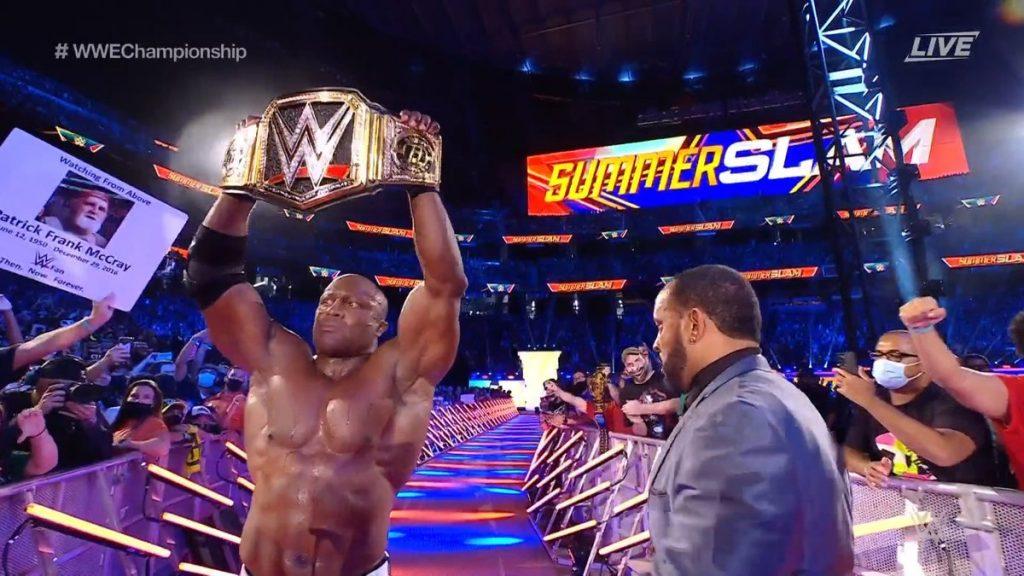 Bobby Lashley destroys Goldberg's leg and hits him at SummerSlam