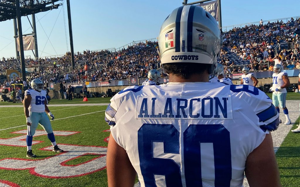 Isaac Alarcón already played his first shot in the NFL