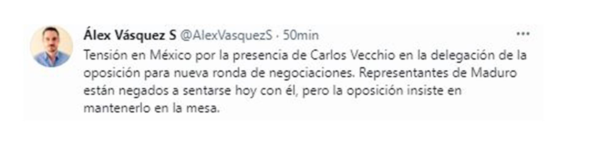 Alex Vasquez's tweet