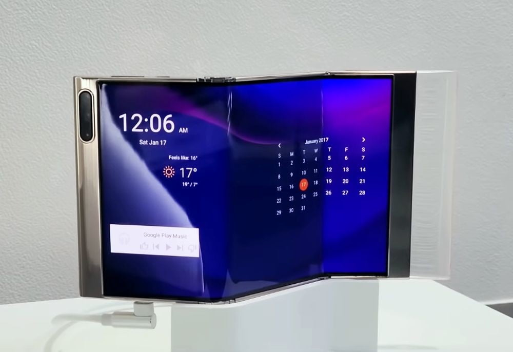 Samsung showcases its foldable phone with triple screen