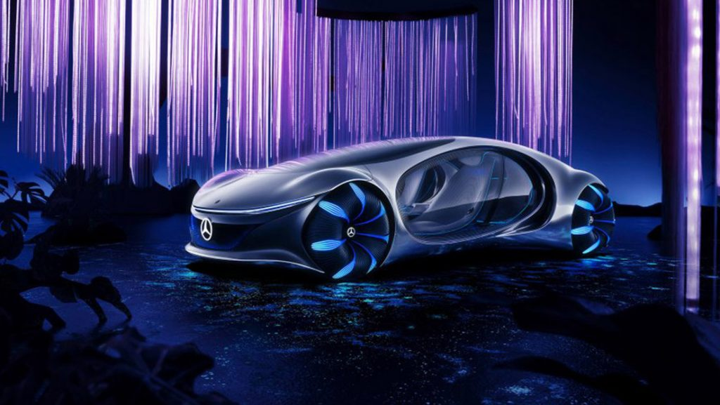 Mercedes-Benz presenta un coche futurista sin volante e inspirado en la película 'Avatar', que se maneja con la mente