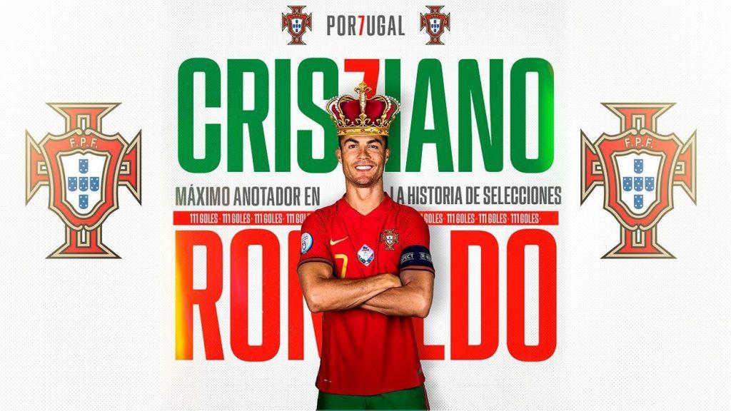 Cristiano Ronaldo tops the national football team's scorer list by beating Ali Daei