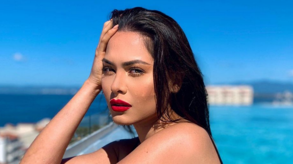 To the beat of Maluma: Andrea Mesa, Miss Universe, rocked the network in a tight swimsuit