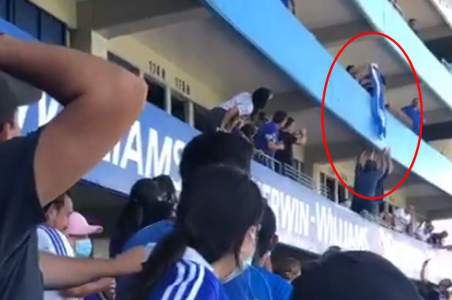 VIDEO: They seek to deliver the insulted Honduran flag in Cascatlan