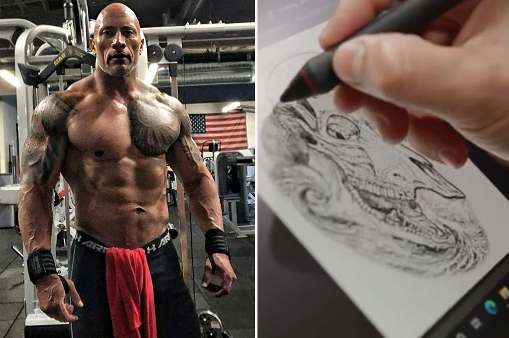 Dwayne Johnson finally finished his tattoo: This is a brutal act that took four years to complete - ten