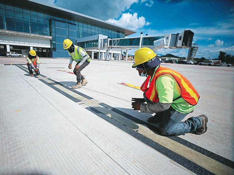 Palmerola will open with the main works still in the construction phase