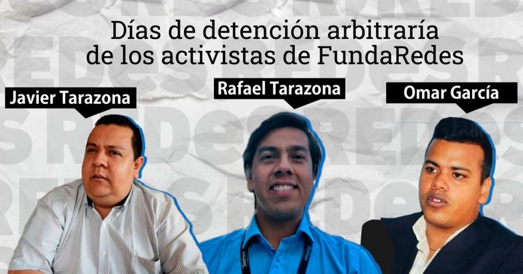 The Venezuelan opposition has demanded the Maduro regime release the three activists from the NGO Fundaredes after 100 days of their arbitrary detention.